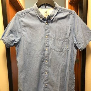 Element blue button down